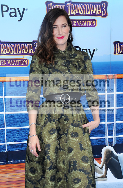 Kathryn Hahn at the World premiere of 'Hotel Transylvania 3: Summer Vacation' held at the Regency Village Theatre in Westwood, USA on June 30, 2018.