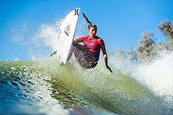 September 9, 2018 - Lemoore, California, U.S. - LAKEY PETERSON (USA) has a points total of 15.37 (out of a possible 20.00) after her Finals Run 1 at the 2018 Surf Ranch Pro. (Credit Image: © Kelly Cestari/WSL via ZUMA Wire/ZUMAPRESS.com)