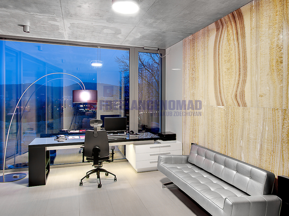 Yellow Golden Onyx Marble polished natural stone wall panel working room cabinet interior project realization