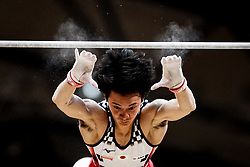 October 29, 2018 - Doha, Qatar - Kenzo Shirai of  Japan   during  High Bar, Team final for Men at the Aspire Dome in Doha, Qatar, Artistic FIG Gymnastics World Championships on October 29, 2018. (Credit Image: © Ulrik Pedersen/NurPhoto via ZUMA Press)