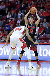 05 November 2017:  William Tinsley guards Adam Pischke during a Lewis College Flyers and Illinois State Redbirds in Redbird Arena, Normal IL