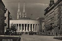"Zagreb.  <br /> <br /> ImpresumZagreb : Foto-Material od t.t. Griesbach i Knaus, [između 1938 i 1941].<br /> Materijalni opis1 razglednica : tisak ; 9 x 14 cm.<br /> NakladnikFotoveletrgovina Griesbach i Knaus (Zagreb)<br /> Mjesto izdavanjaZagreb<br /> Vrstavizualna građa • razglednice<br /> ZbirkaZbirka razglednica • Grafička zbirka NSK<br /> Formatimage/jpeg<br /> PredmetZagreb –– Trg žrtava fašizma<br /> SignaturaRZG-TZFAS-3<br /> Obuhvat(vremenski)20. stoljeće<br /> NapomenaRazglednica je putovala. • Na poleđini razglednice ispod razdjelne linije otisnut je monogram BYK prema dr. Heinrich Byk (""Dr. Heinrich Byk, Fabrik pharmazeutischer, photographischer und technischer Produkte"").<br /> PravaJavno dobro<br /> Identifikatori000954282<br /> NBN.HRNBN: urn:nbn:hr:238:315425 <br /> <br /> Izvor: Digitalne zbirke Nacionalne i sveučilišne knjižnice u Zagrebu"