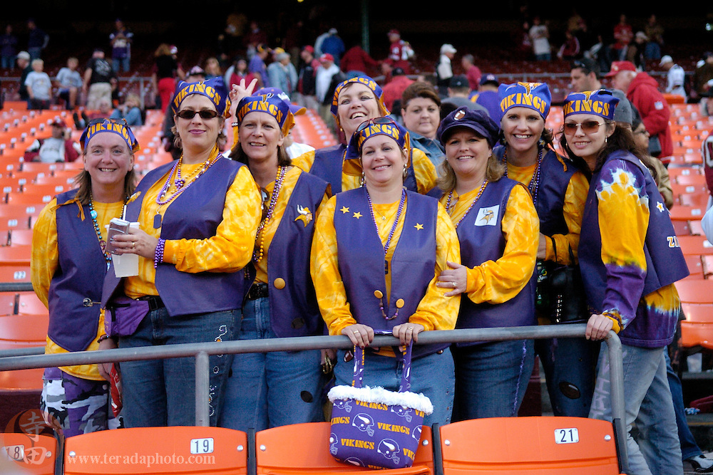 Nov 5, 2006 San Francisco, CA, USA: Minnesota Vikings fans pose for a photo after the game against the San Francisco 49ers at Monster Park. The 49ers defeated the Vikings 9-3.