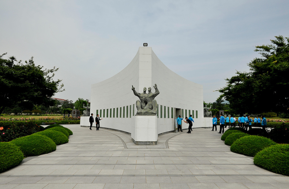 Korean War veterans honored on Memorial Day at the UN Memorial Cemetery in Busan, South Korea, June 6, 2012,