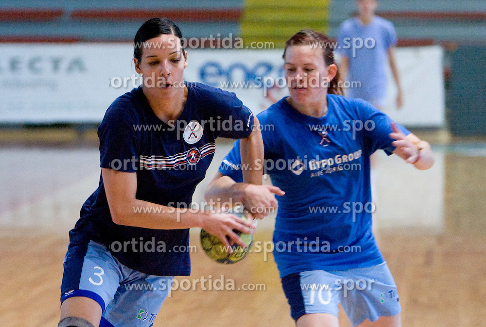 Anja Argenti and Jana Bacar at practice of Slovenian Handball Women National Team, on June 3, 2009, in Arena Kodeljevo, Ljubljana, Slovenia. (Photo by Vid Ponikvar / Sportida)