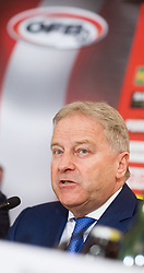 08.02.2016, Hotel Intercontinental, Wien, AUT, ÖFB, Pressekonferenz nach jährlichem M6 (Liechtenstein, Polen, Slowakei, Tschechien Ungarn, Österreich) Treffen, im Bild ÖFB Präsident Leo Windtner // during press conference after M6 Meeting of the Football Associations (Liechtenstein, Poland, Slovakia, Czech Repubic, Hungary, Austria) at Hotel Intercontinental in Vienna, 2016/02/08. EXPA Pictures © 2016 PhotoCredit: EXPA/ Michael Gruber
