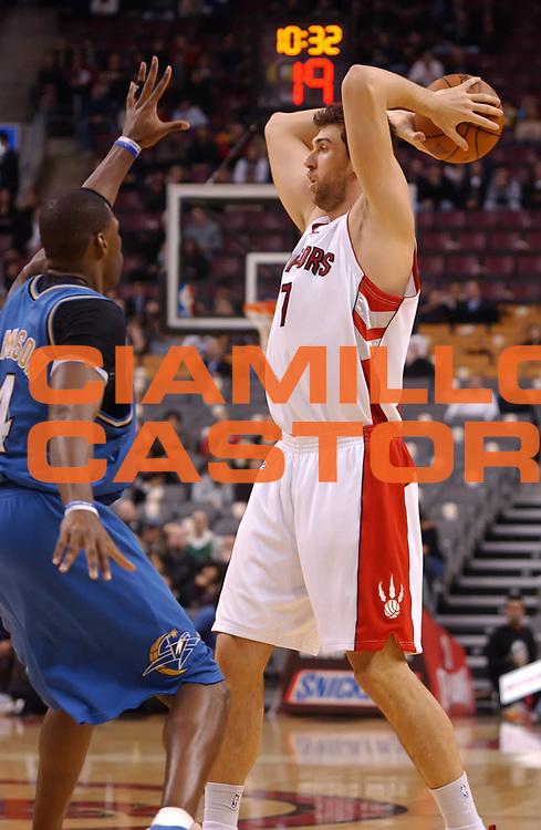 DESCRIZIONE : Toronto NBA 2009-2010 Toronto Raptors Washington Wizards<br /> GIOCATORE : Andrea Bargnani<br /> SQUADRA : Toronto Raptors<br /> EVENTO : Campionato NBA 2009-2010 <br /> GARA : Toronto Raptors Washington Wizards<br /> DATA : 01/12/2009<br /> CATEGORIA :<br /> SPORT : Pallacanestro <br /> AUTORE : Agenzia Ciamillo-Castoria/V.Keslassy<br /> Galleria : NBA 2009-2010<br /> Fotonotizia : Toronto NBA 2009-2010 Toronto Raptors Washington Wizards<br /> Predefinita :