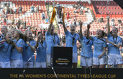 February 23, 2019 - Sheffield, England, United Kingdom - Manchester City celebrate winning the league cup during the  FA Women's Continental League Cup Final  between Arsenal and Manchester City Women at the Bramall Lane Football Ground, Sheffield United FC Sheffield, Saturday 23rd February. (Credit Image: © Action Foto Sport/NurPhoto via ZUMA Press)