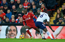 LIVERPOOL, ENGLAND - Sunday, February 4, 2018: Liverpool's Sadio Mane during the FA Premier League match between Liverpool FC and Tottenham Hotspur FC at Anfield. (Pic by David Rawcliffe/Propaganda)