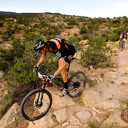 Barry Wicks negotiates a rocky section on the Butterknife Trail during the Grand Junction Off-Road. <br /> Photos by Brian Leddy