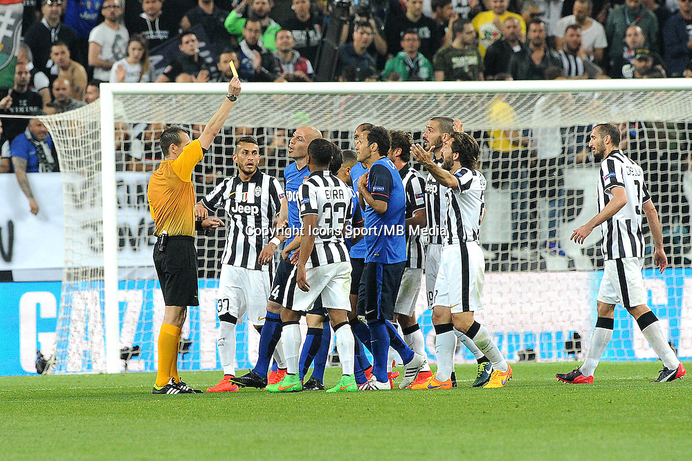 Carton jaune Ricardo Carvalho - 14.04.2015 - Juventus Turin / Monaco - 1/4Finale aller Champions League<br /> Photo : Jean Paul Thomas / Icon Sport