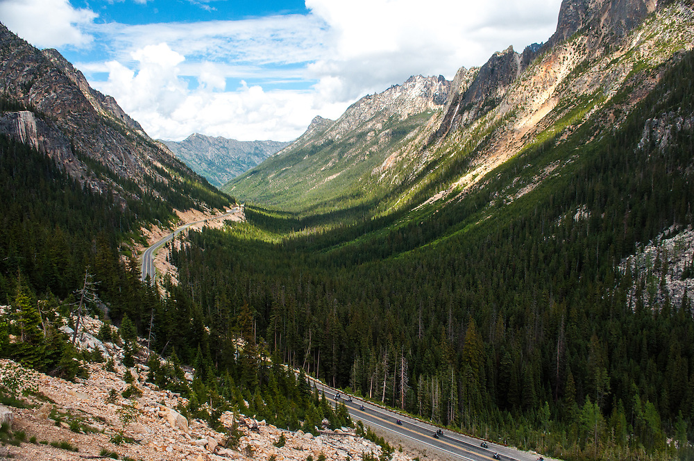 North Cascades Highway, Route 20, looking East from Washington Pass.