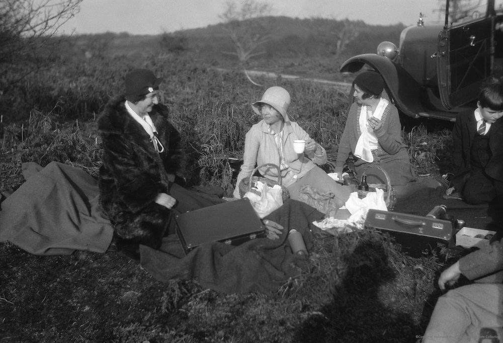 Picnic and Motoring, England, c1931