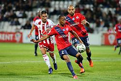 November 3, 2017 - Ajaccio, France - Qazim LACI (ACA) vs Chaker ALHADHUR  (Credit Image: © Panoramic via ZUMA Press)