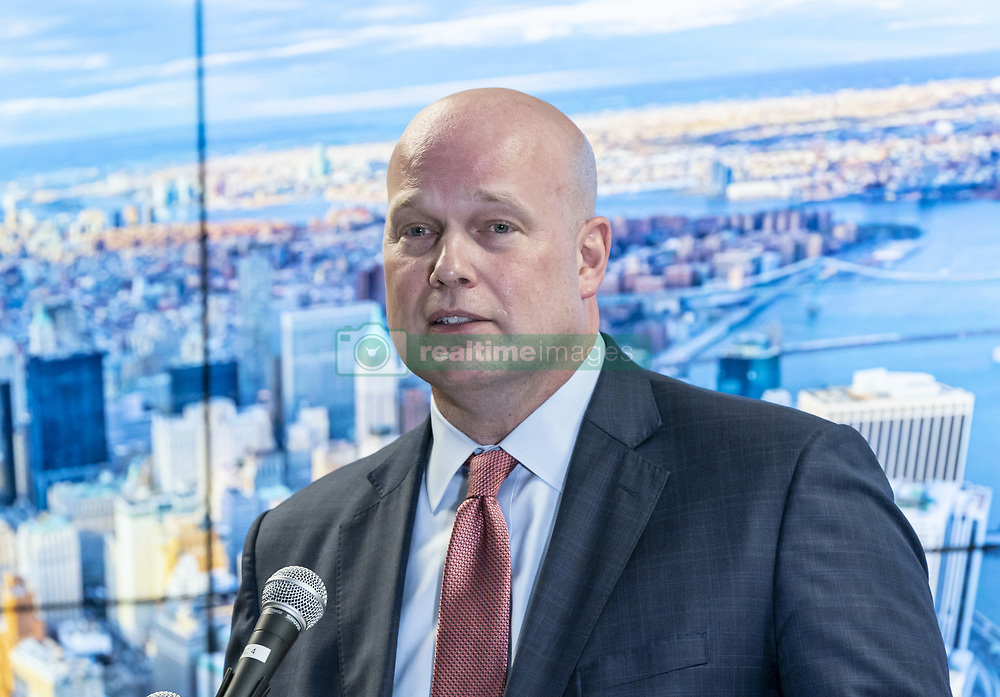 November 21, 2018 - New York, New York, United States - Acting Attorney General Matthew Whitaker delivers remarks to the Joint Terrorism Task Force at New York FBI field office. (Credit Image: © Lev Radin/Pacific Press via ZUMA Wire)