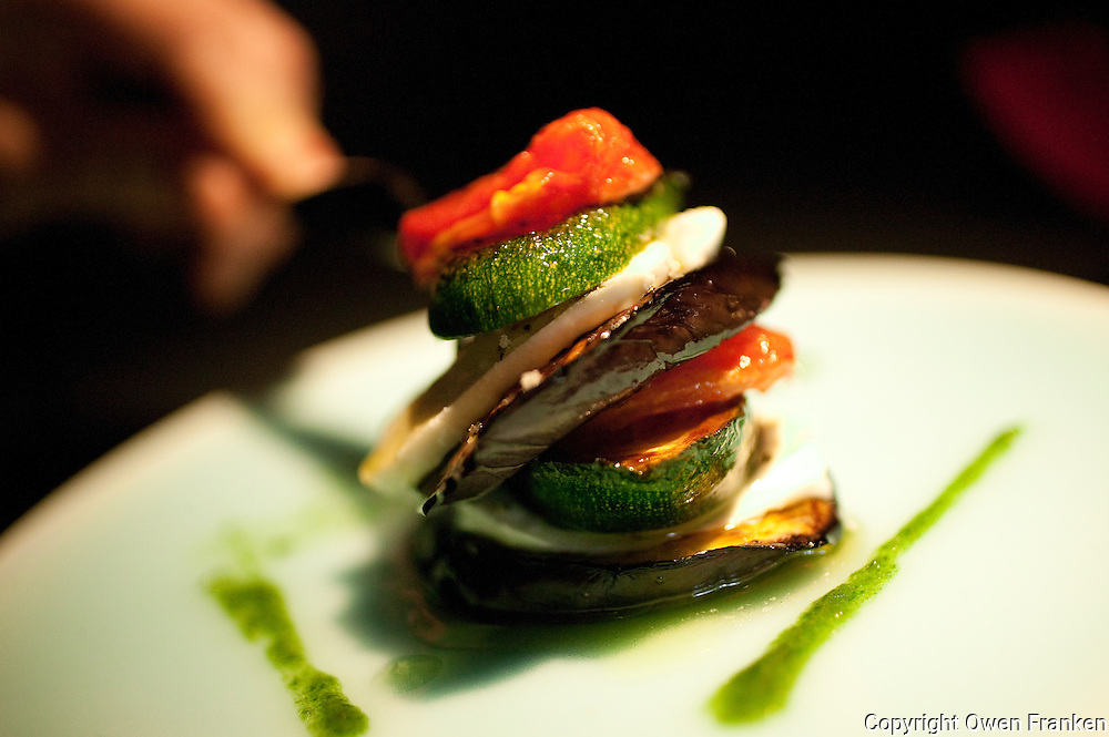 A Mille Feuilles (Thousand sheets) de Legumes - grilled vegetables at l'Atelier de Joel Robuchon in Paris