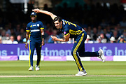 Chris Wood of Hampshire bowling during the Royal London 1 Day Cup Final match between Somerset County Cricket Club and Hampshire County Cricket Club at Lord's Cricket Ground, St John's Wood, United Kingdom on 25 May 2019.