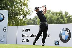 26.06.2015, Golfclub München Eichenried, Muenchen, GER, BMW International Golf Open, Tag 2, im Bild Pablo Larrazabal (ESP) am Abschlag, Tee // during day two of the BMW International Golf Open at the Golfclub München Eichenried in Muenchen, Germany on 2015/06/26. EXPA Pictures © 2015, PhotoCredit: EXPA/ Eibner-Pressefoto/ Kolbert<br /> <br /> *****ATTENTION - OUT of GER*****