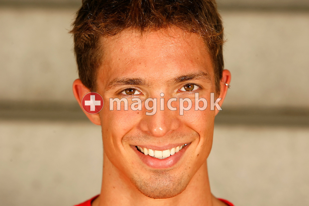 Swimmer Stephan Bachmann of Switzerland poses during a portrait session of the Swiss team for the 2006 European Championships at St. Jakob Sportbad in Basel, Switzerland, Saturday July 22, 2006. (Photo by Patrick B. Kraemer / MAGICPBK)