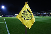 Burton Albion corner flag before the EFL Sky Bet League 1 match between Burton Albion and Southend United at the Pirelli Stadium, Burton upon Trent, England on 3 December 2019.