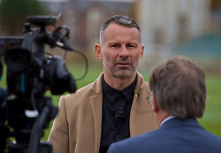 BARRY, WALES - Thursday, October 3, 2019: Wales manager Ryan Giggs speaks to the media after a press conference to announce his squad for the forthcoming UEFA Euro 2020 Qualifying Group E qualifying matches against Slovakia and Croatia. (Pic by David Rawcliffe/Propaganda)
