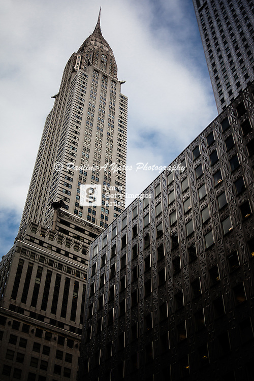 405 Lexington Avenue, upward view of the Chrysler Building