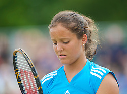 LIVERPOOL, ENGLAND - Saturday, June 20, 2009: Laura Robson (GBR) during Day Four of the Tradition ICAP Liverpool International Tennis Tournament 2009 at Calderstones Park. (Pic by David Rawcliffe/Propaganda)