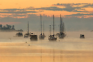 Sunrise at Mahone Bay, Mahone Bay, Nova Scotia, Maritimes, Canada