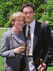MISS SHARON MOUGHTIN and the HON.JONATHAN MONTAGU son of Lord Montagu of Beaulieu, at a car rally in West Sussex on 20th June 1999.MTM 35