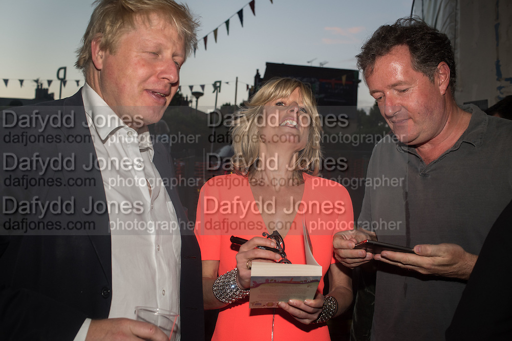 BORIS JOHNSON; RACHEL JOHNSON; PIERS MORGAN, Rachel Johnson book launch of Fresh Hell, Acklam Village Market, Acklam Rd. London W10.
