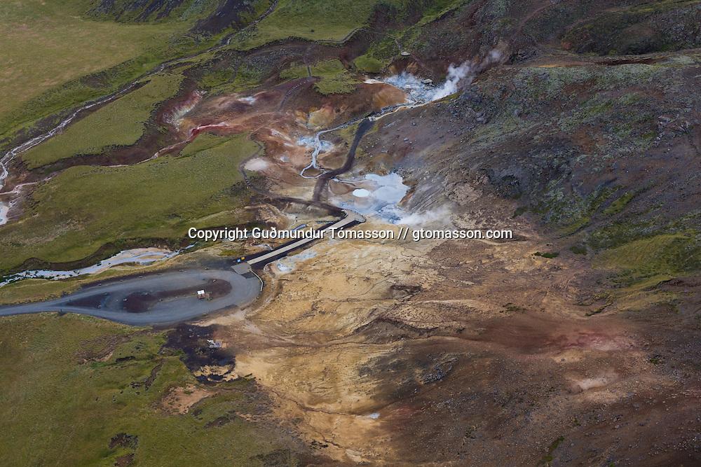 Seltún geothermal area, Reykjanes, Iceland.