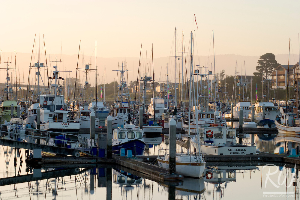 Woodley Island Marina at Sunrise, Eureka, California