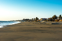 beach houses in the peruvian coast at Piura Peru
