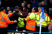 Leyton Orient fans during the The FA Cup match between Gillingham and Leyton Orient at the MEMS Priestfield Stadium, Gillingham, England on 4 November 2017. Photo by John Marsh.