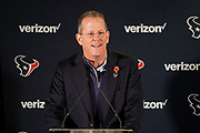 Jamey Rootes President of the Houston Texans during the media day / training session / press conference for Houston Texans at London Irish Training Ground, Hazelwood Centre, United Kingdom on 1 November 2019.