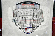 The roof of the University of Phoenix Stadium dome is superimposed on the ESPN Monday Night Football logo in this multiple exposure photograph taken before the Arizona Cardinals 2017 NFL week 3 regular season football game against the Dallas Cowboys, Monday, Sept. 25, 2017 in Glendale, Ariz. The Cowboys won the game 28-17. (©Paul Anthony Spinelli)