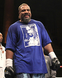 May 21, 2010; New York, NY; USA; Shannon Briggs knocks out Dominique Alexander in the first round of their bout at the Capitale in NYC.