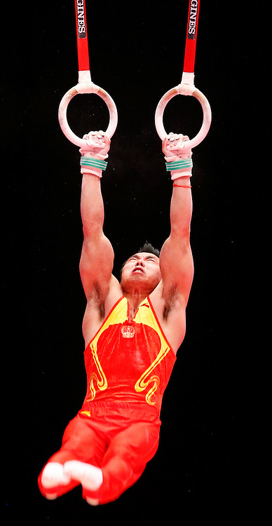 2015 Artistic Gymnastics World Championships being held in Glasgow from 23rd October to 1st November 2015.....Hao You (Peoples Republic of China) competing in the Still Rings competition..(c) STEPHEN LAWSON | SportPix.org.uk