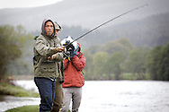 Bryan Clay and Jeremy Campbell are accustomed to competing in front of tens of thousands of spectators in some of the world's greatest sporting arenas, but today the American athletic stars were the picture of relaxation as they indulged in a spot of fishing on the banks of the River Tay.. .Clay, the reigning Olympic decathlon champion, and Campbell, who scooped gold in the pentathlon and discus at the 2008 Paralympics in Beijing, were staying at the East Haugh Hotel, Pitlochry, at the weekend  as part of a drive to promote UK tourism ahead of next year's 2012 London Olympic Games.. .The two athletes, whose tour of Scotland has been organised by VisitScotland and VisitBritain in co-operation with the U.S. Olympic Committee, were in Pitlochry as part of Team USA: Britain Bound. The athletes will document their tour of Scotland, including their visit to Perthshire, through images, video and blogs posted on www.TeamUSA.org/BritainBound.. .Pic shows Bryan casting off