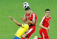 Silva Thiago (Brazil) and Aleksandar Mitrovic (Serbia) <br /> Moscow 27-06-2018 Football FIFA World Cup Russia  2018 <br /> Serbia - Brazil / Serbia - Brasile<br /> Foto Matteo Ciambelli/Insidefoto