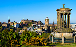 Daytime skyline view of Edinburgh from Calton Hill, Scotland, UK