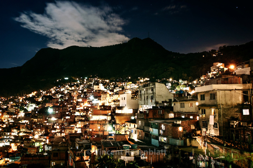 Rocinha, Rio de Janeiro 2007. The biggest slum in Rio, located in the heart of the city's richest areas : São Conrado, Gavea and Barra da Tijuca.  There are at least 4 baile each weekend.