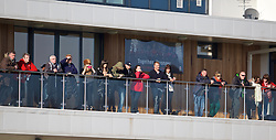 NEWPORT, WALES - Sunday, February 8, 2015: Friends and family watch as Wales U18 Academy take on South Wales during a friendly match at Dragon Park. (Pic by David Rawcliffe/Propaganda)