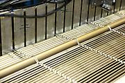 D&uuml;ren. 15.03.17 | BILD- ID 029 |<br /> GKD - Gebr. Kufferath AG. Metallfassade f&uuml;r die Neue Mannheimer Kunsthalle.<br /> Das Unternehmen in D&uuml;ren produziert Fassaden f&uuml;r die Architektur aus Metall. Ein gewebtes Metallgitter wird von Aussen an die Fassade montiert. <br /> Kunsthallendirektorin Dr. Ulrike Lorenz besucht das Unternehmen in D&uuml;ren und freut sich &uuml;ber die technische Umsetzung mit einer speziell goldenen Pigmentierung der Edelstahlstreben.<br /> Bild: Markus Prosswitz 15MAR17 / masterpress (Bild ist honorarpflichtig - No Model Release!)