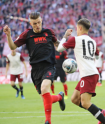 08.03.2020, Allianz Arena, Muenchen, GER, 1. FBL, FC Bayern Muenchen vs FC Augsburg, 25. Runde, im Bild Jeffry Gouweleeuw gegen Philippe Coutinho // during the German Bundesliga 25th round match between FC Bayern Muenchen and FC Augsburg at the Allianz Arena in Muenchen, Germany on 2020/03/08. EXPA Pictures © 2020, PhotoCredit: EXPA/ SM<br /> <br /> *****ATTENTION - OUT of GER*****