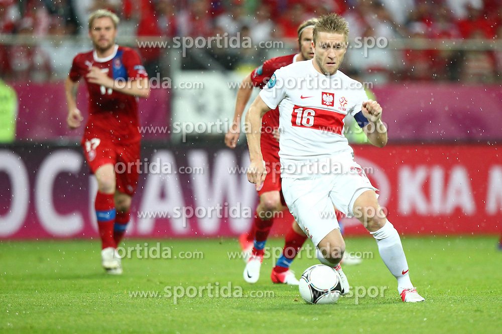 16.06.2012, Staedtisches Stadion, Breslau, POL, UEFA EURO 2012, Tschechien vs Polen, Gruppe A, im Bild JAKUB BLASZCZYKOWSKI // during the UEFA Euro 2012 Group A Match between Czech Republic and Poland at the Municipal Stadium, Wroclaw, Poland on 2012/06/16. EXPA Pictures © 2012, PhotoCredit: EXPA/ Newspix/ Lukasz Grochala..***** ATTENTION - for AUT, SLO, CRO, SRB, SUI and SWE only *****