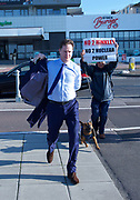 The Andrew Marr Show <br /> Brighton seafront, Brighton, East Sussex, Great Britain <br /> 24th September 2017 <br /> <br /> Jeremy Corbyn MP<br /> Leader of the Labour Party arriving for the Marr show <br /> <br /> Nick Clegg <br /> former leader of the LibDems and deputy Prime Minister arriving for the Marr show <br /> <br /> Photograph by Elliott Franks <br /> Image licensed to Elliott Franks Photography Services