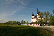 Magnificent church amidst meadows. Waldsassen. Bavaria. Germany.