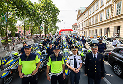 Police team during 1st Stage of 26th Tour of Slovenia 2019 cycling race between Ljubljana and Rogaska Slatina (171 km), on June 19, 2019 in  Slovenia. Photo by Vid Ponikvar / Sportida