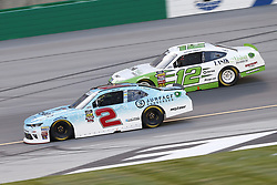 July 13, 2018 - Sparta, Kentucky, United States of America - Matt Tifft (2) and Austin Cindric (12) battle for position during the Alsco 300 at Kentucky Speedway in Sparta, Kentucky. (Credit Image: © Chris Owens Asp Inc/ASP via ZUMA Wire)